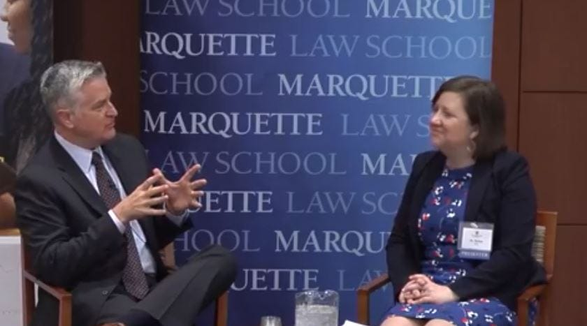 Marquette University's Mike Gousha interviews Melissa Holt, a Boston University professor who has studied bullying and youth mental health