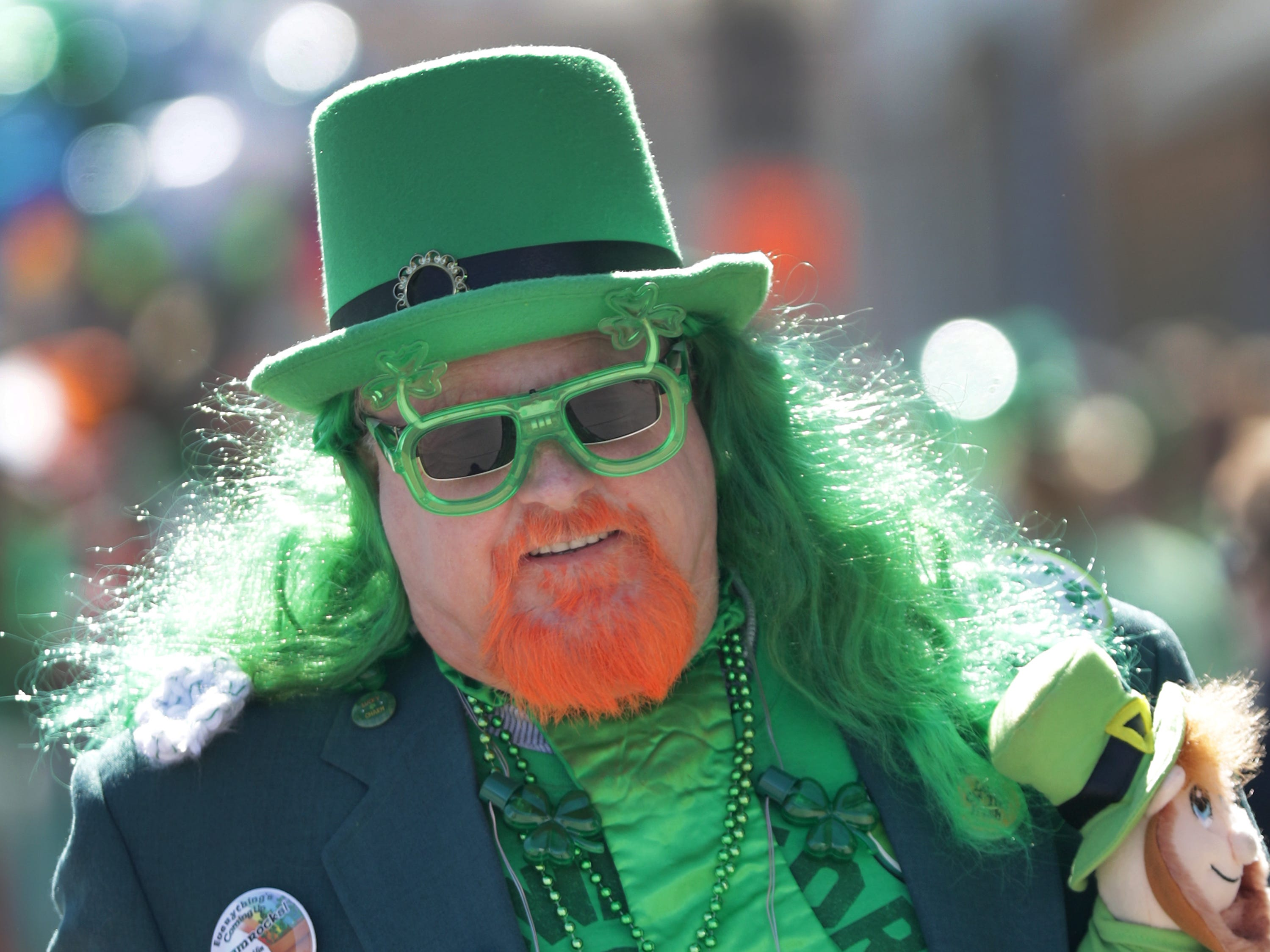 Mert Olson during the New Dublin St. Patrick's Day Grand Parade on Saturday, March 23, 2019, in New London, Wis.Wm. Glasheen/USA TODAY NETWORK-Wisconsin.