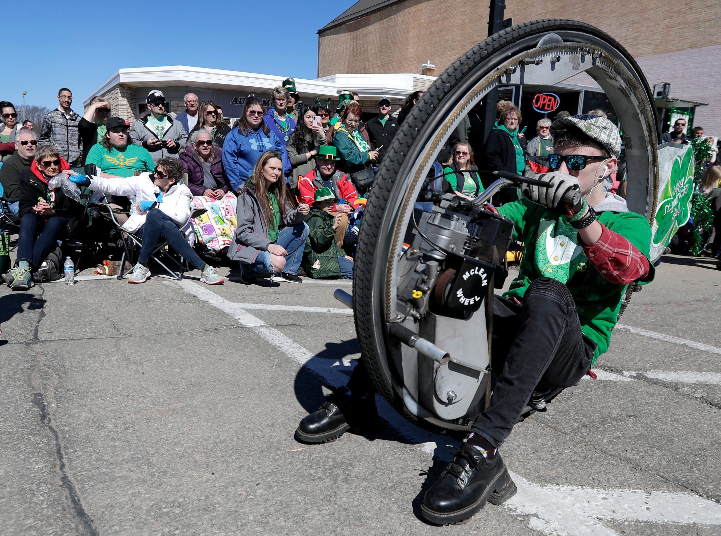 Carson Howell dueing the New Dublin St. Patrick's Day Grand Parade on Saturday, March 23, 2019, in New London, Wis.Wm. Glasheen/USA TODAY NETWORK-Wisconsin.