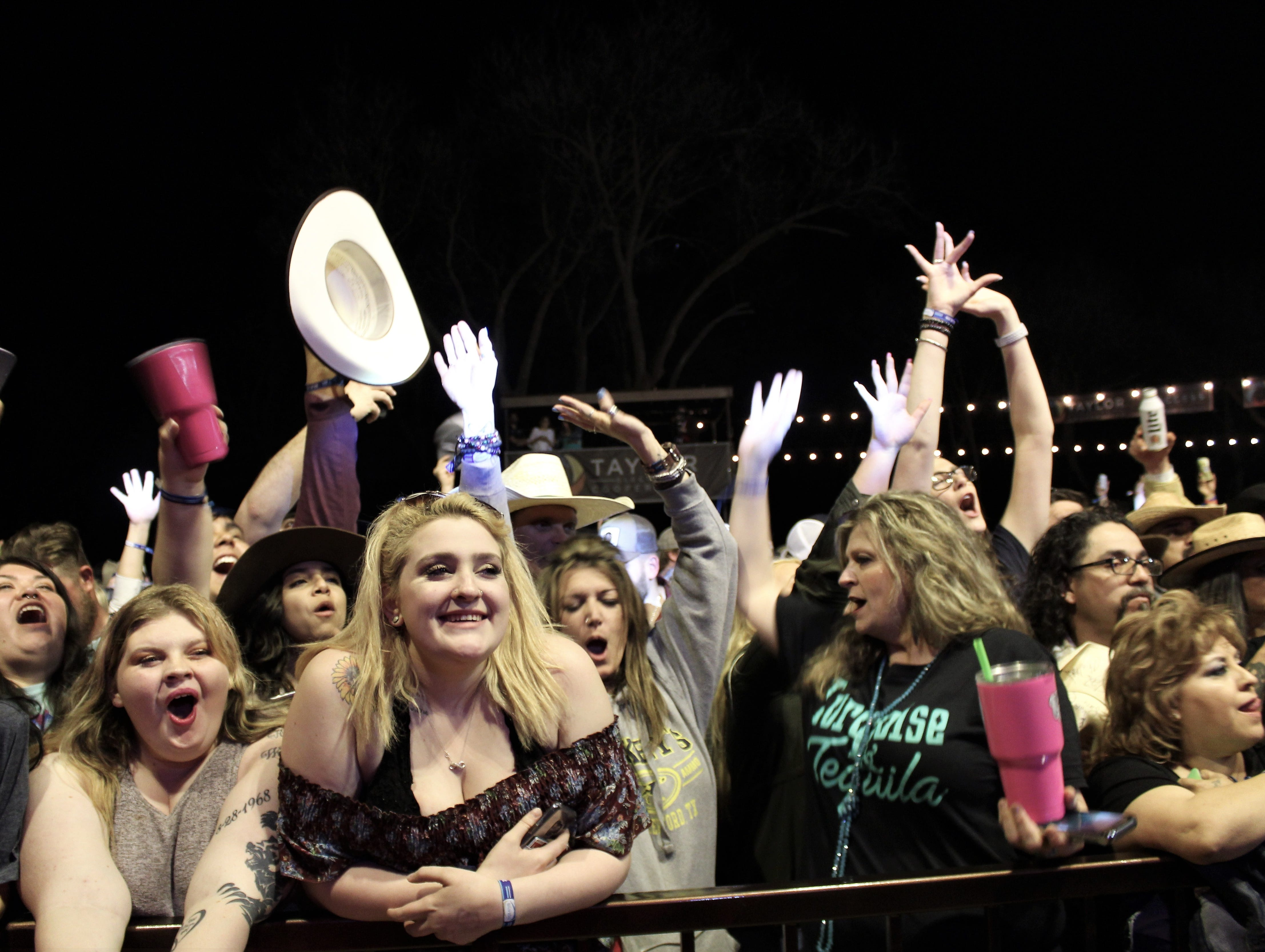 And the crowd goes wild during Midland's set Friday evening March 22, 2019, at the Back Porch of Texas.