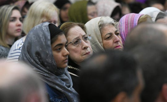 Hundreds of people representing many different religious and civic organizations fill the Islamic Society of Brevard mosque in Melbourne Saturday afternoon.  They came for a memorial to the victims of the massacre in New Zealand and to show their solidarity with Muslims living locally.