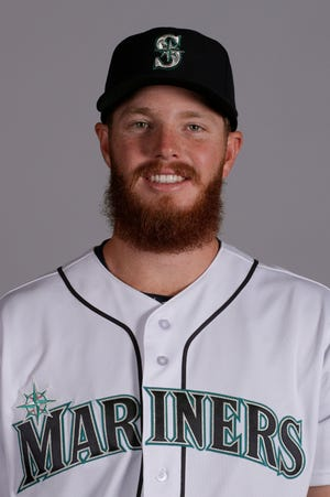This is a 2019 photo of David McKay of the Seattle Mariners baseball team. This image reflects the Seattle Mariners active roster as of Monday, Feb. 18, 2019, when this image was taken. (AP Photo/Charlie Riedel)