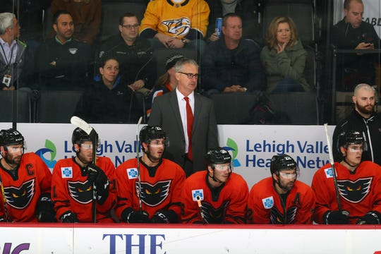 Interim coach Kerry Huffman is trying to get the Phantoms into the playoffs, but the Flyers called up several top players like Carter Hart, Phil Myers and Phil Varone.