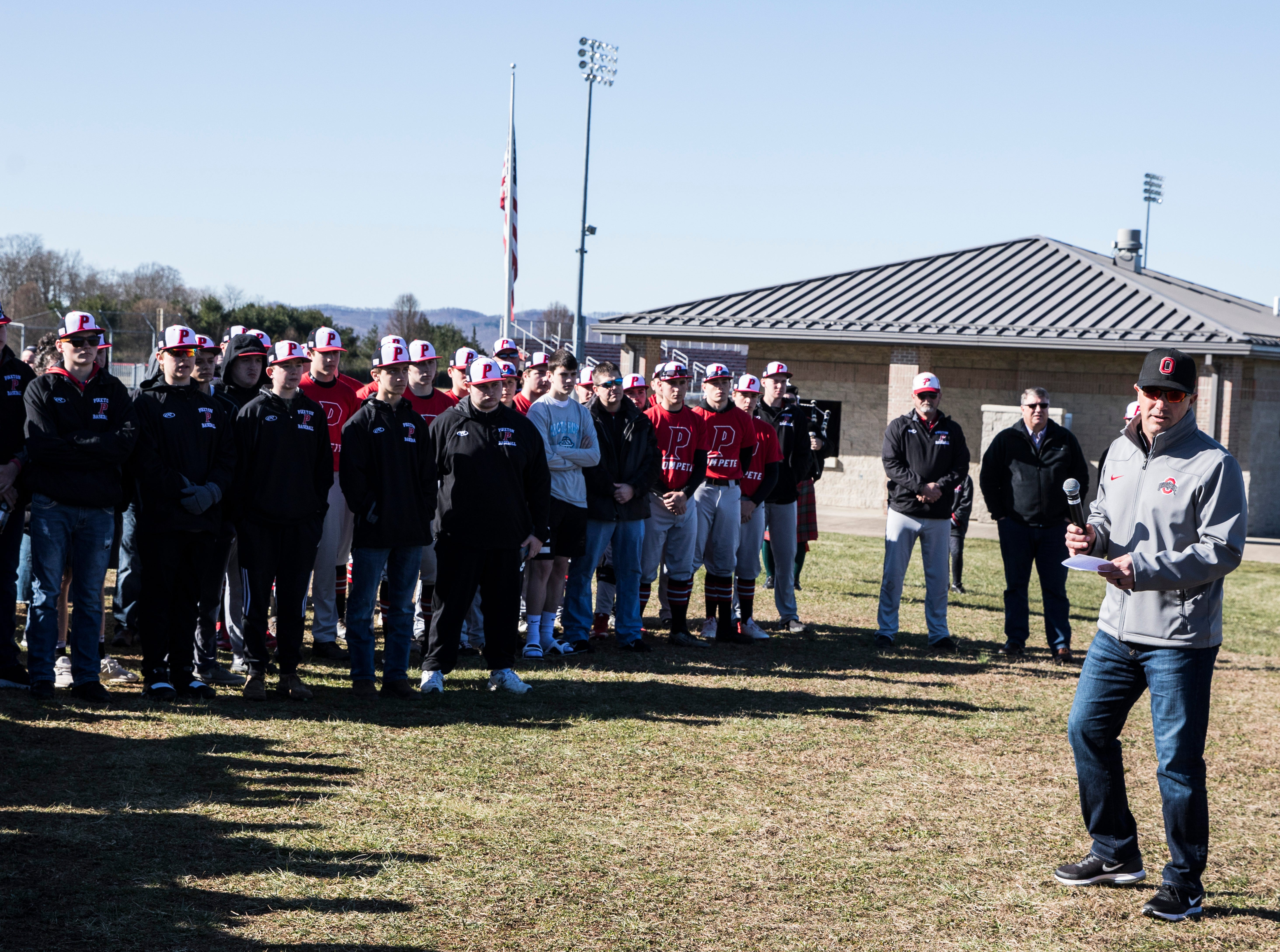 The Piketon baseball team honored former player Zach Farmer on Saturday, March 23, 2019, with a commemorative monument to celebrate his baseball career.
