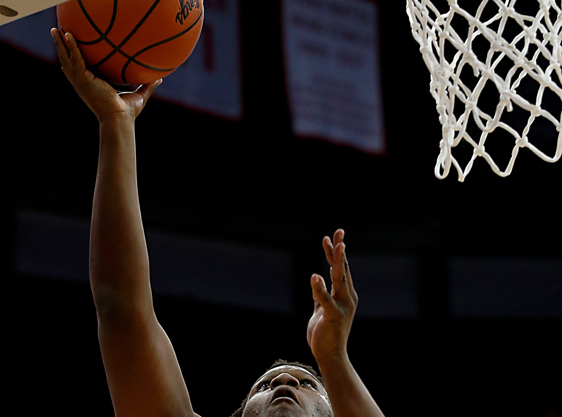 Moeller forward Alex Williams adds two against St. Edward during their Division I semifinal at the Schottenstein Center in Columbus Friday, March 22, 2019.