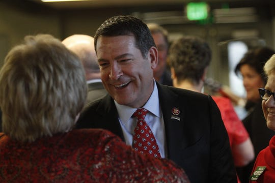 Congressman Mark Green at the Montgomery County Republican Party Lincoln Reagan Dinner at Wilma Rudolph Event Center Friday, March 22, 2019.