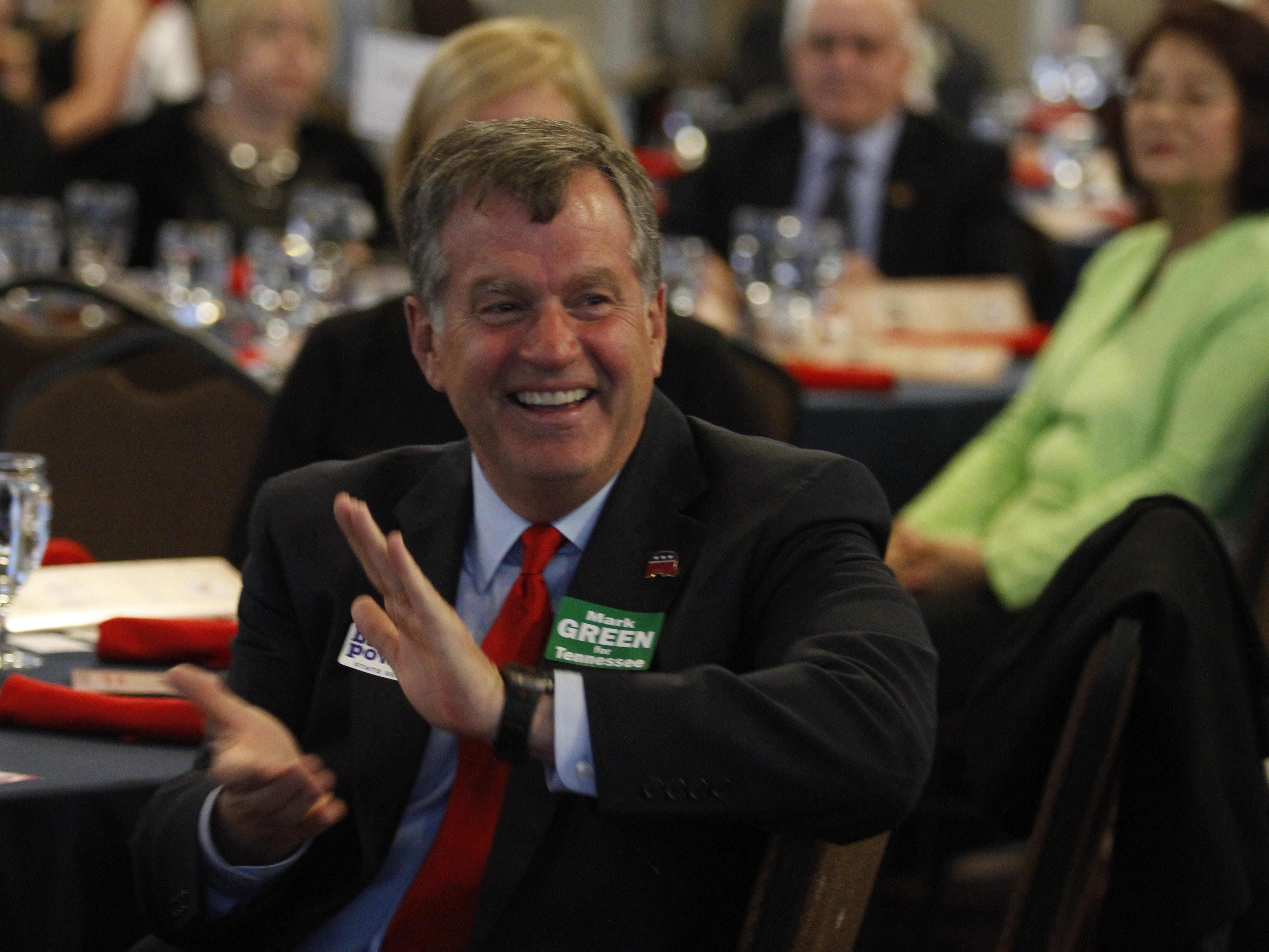 Bill Powers, Republican candidate for state Senate District 22, at the Montgomery County GOP Lincoln Reagan Dinner at Wilma Rudolph Event Center Friday, 22, 2019.