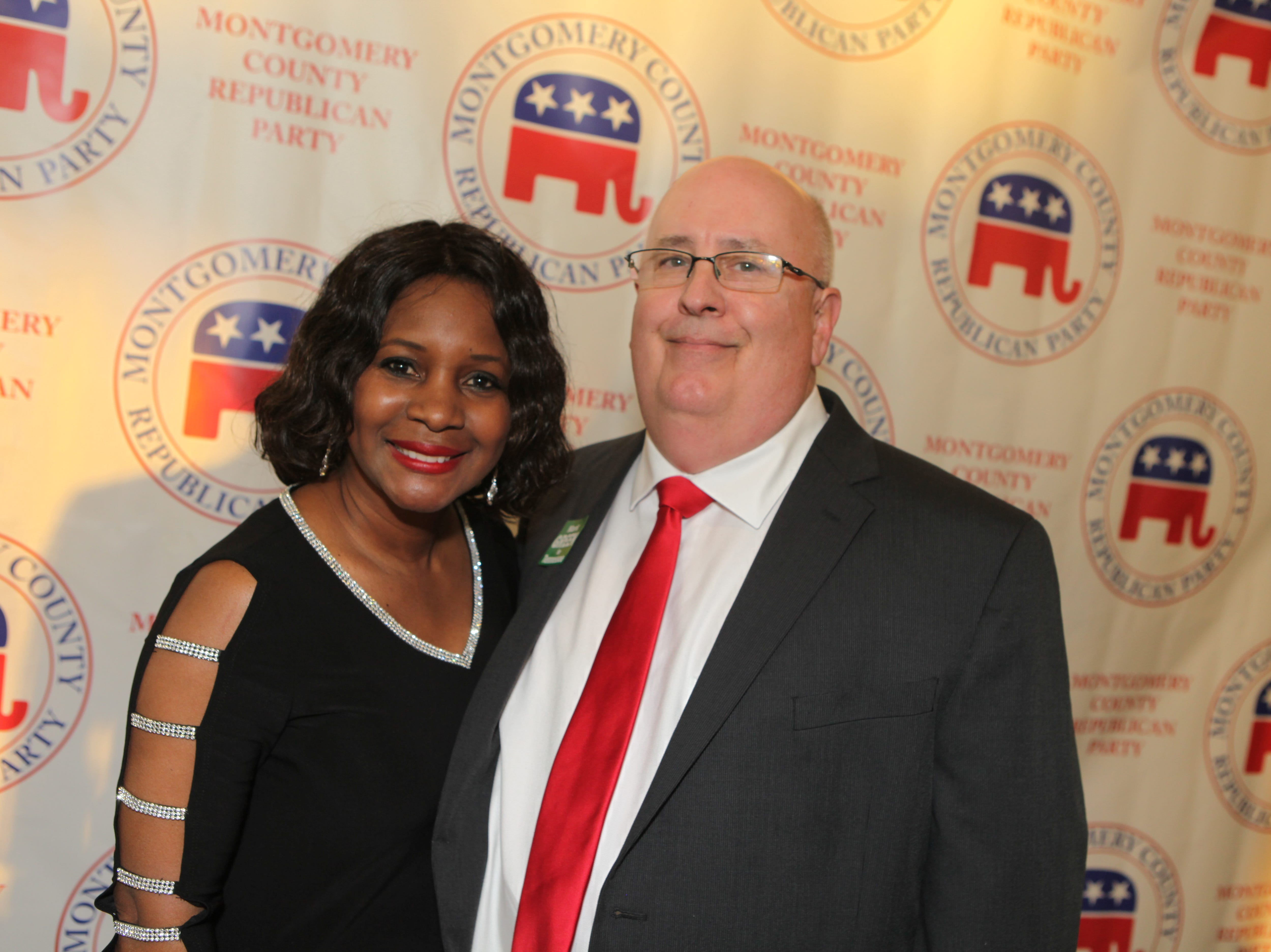 Corinthia and Lee Elder at the Montgomery County Republican Party Lincoln Reagan Dinner at Wilma Rudolph Event Center Friday, March 22, 2019.