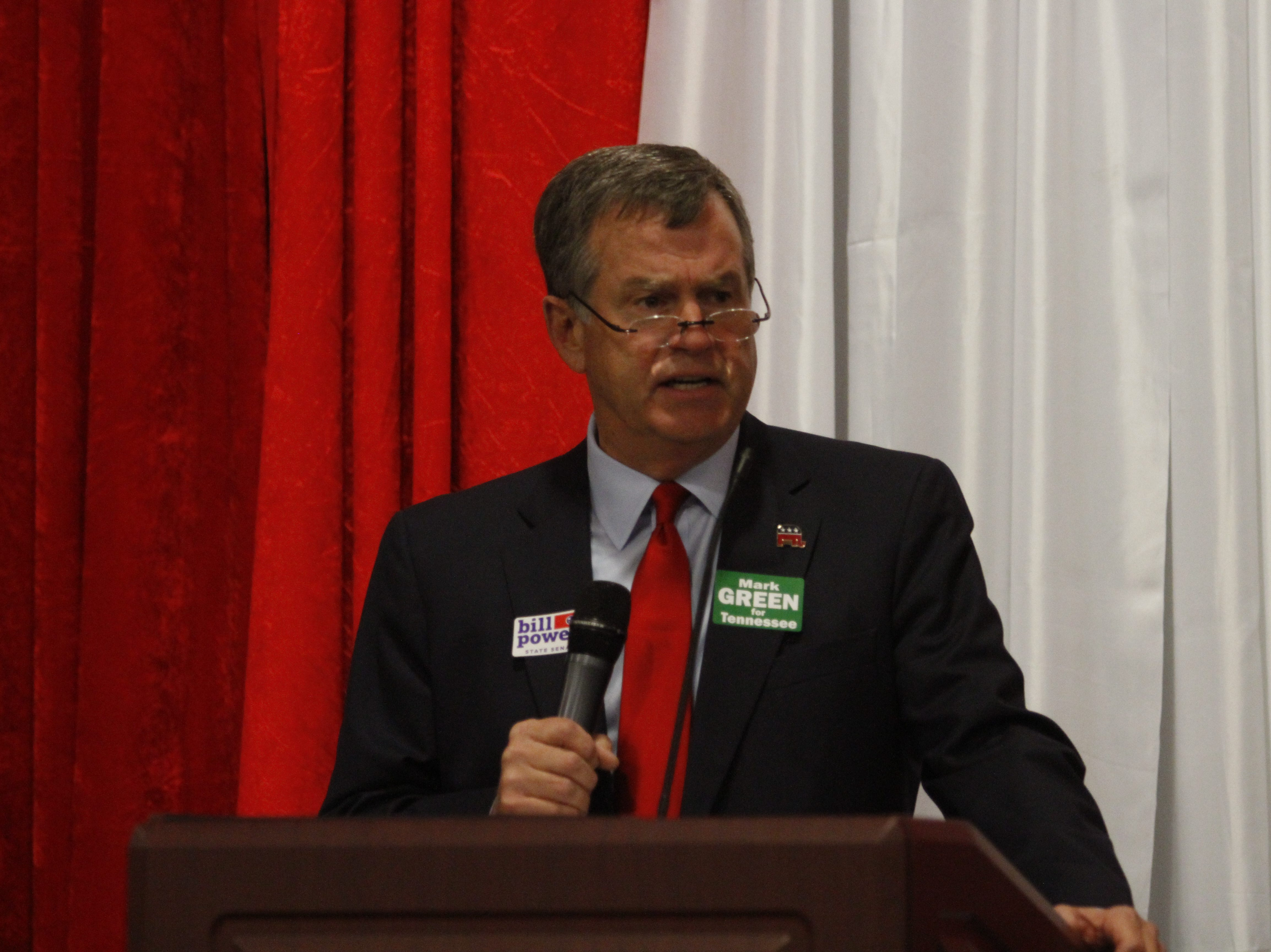 Republican state Senate candidate Bill Powers at the Montgomery County Republican Party Lincoln Reagan Dinner at Wilma Rudolph Event Center Friday, March 22, 2019.