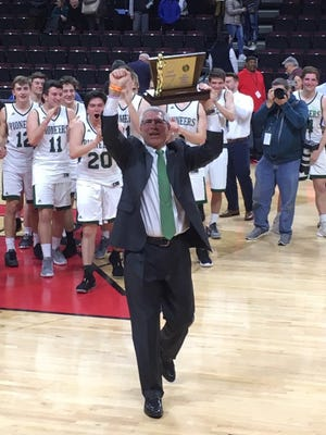New Providence coach Art Cattano is the 2018-19 Courier News Boys Basketball Coach of the Year.