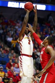 Mar 22, 2019; Tulsa, OK, USA; Iowa State Cyclones forward Cameron Lard (2) shoots against Ohio State Buckeyes forward Kaleb Wesson (34) during the first half in the first round of the 2019 NCAA Tournament at BOK Center.