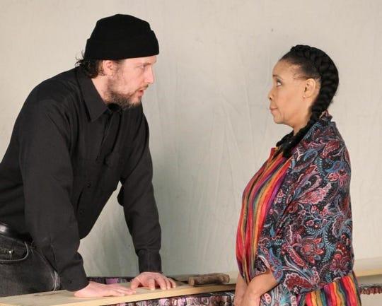 """Aaron Kottke and Jenaya Jones Reynolds in Detroit Repertory Theatre's """"Aubrey."""""""