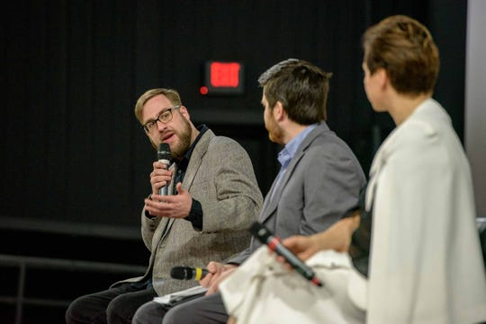"Writer-director Joshua Riehl and producer Jenny Feterovich were part of a post-screening discussion about ""The Russian Five"" at the Emagine Royal Oak in March."
