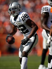 Rashaan Melvin spent last season with the Raider where he appeared in 14 games, starting seven.