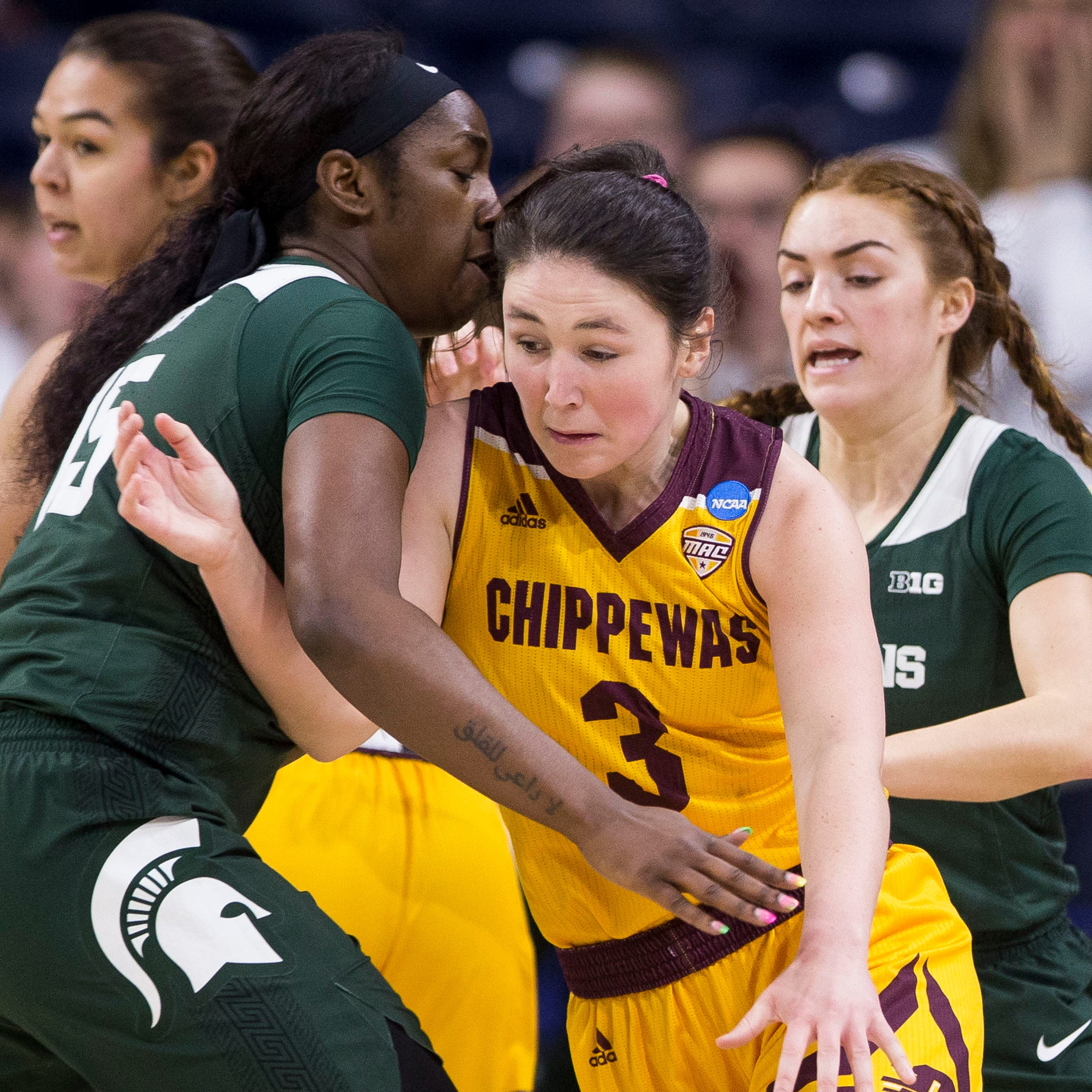 'Really proud': In women's NCAA Tournament thriller, MSU slips past CMU
