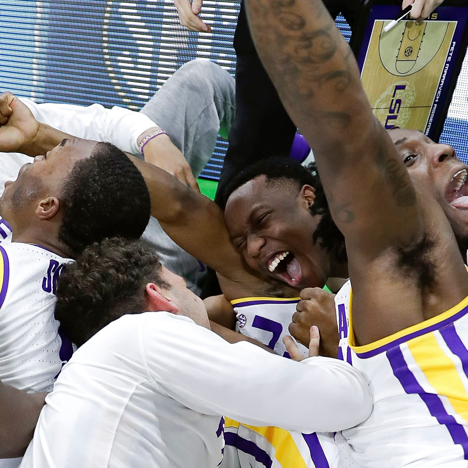 LSU sends Maryland packing on last-second shot; Michigan State is next