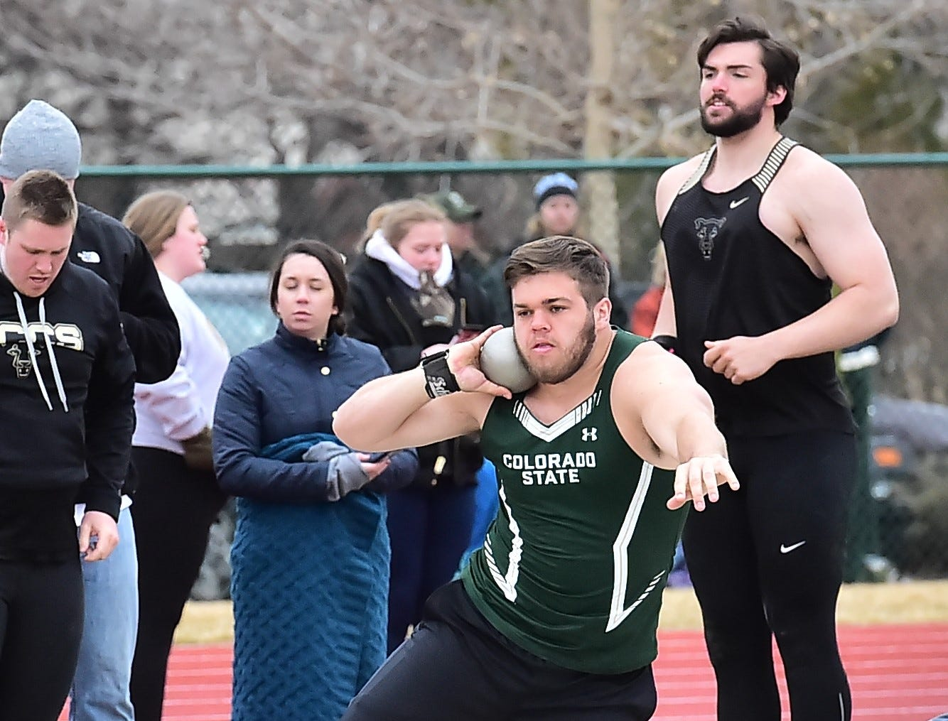 CSU's Beau Gordon competes in the shot put Saturday, March 23, 2019, in the Fum McGraw Open on Saturday at Colorado State University's Jack Christiansen Track.