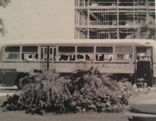 Ed McGinn, an early employee for Gulf American Land Corp., which developed Cape Coral, drove a bus for the company before becoming a dispatcher.