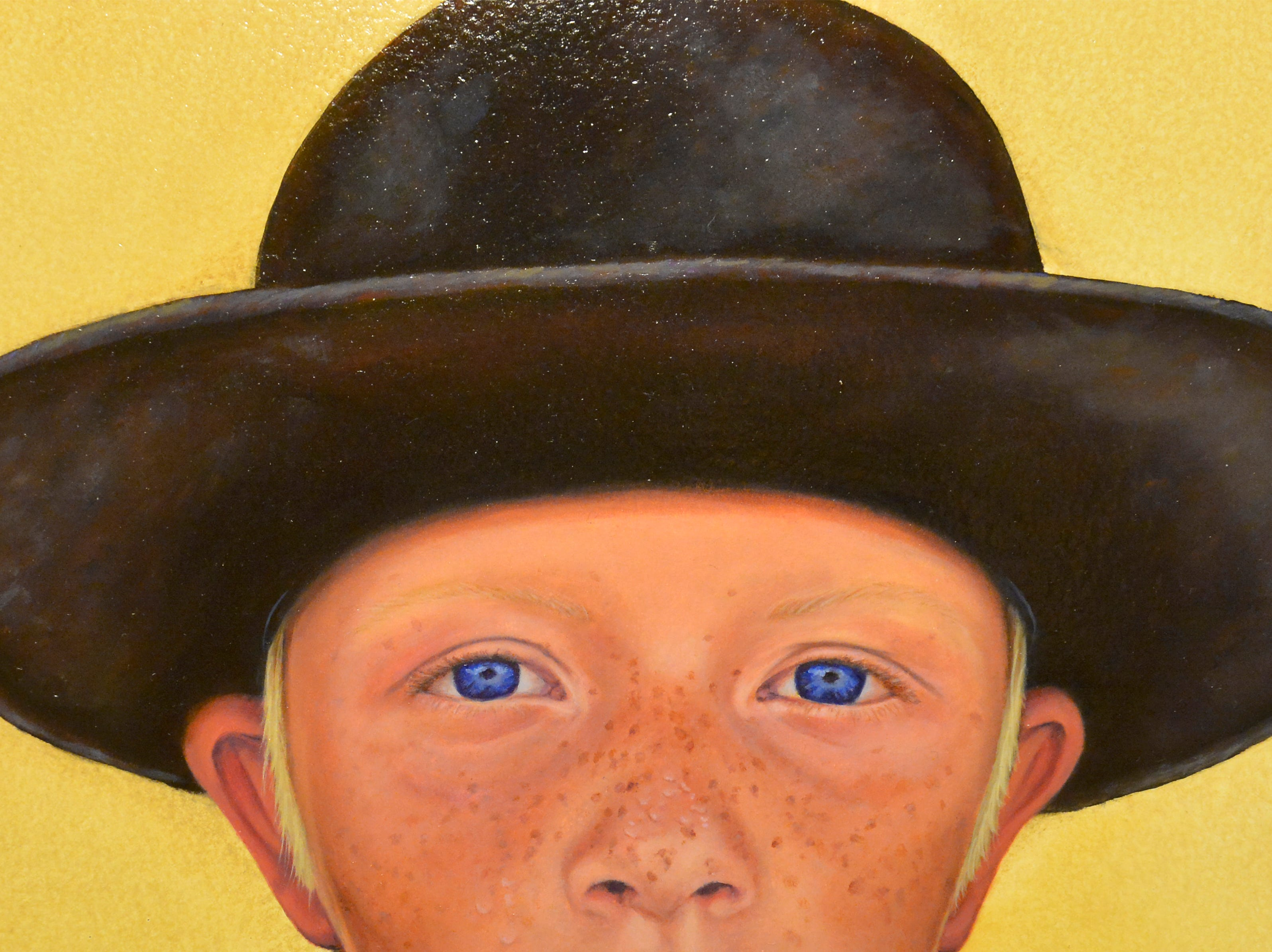 "Virginia Coudron's ""Blue-eyed Roper"" oil painting at the Western Heritage Artists Footprints on the Trail Art Show in the Holiday Inn, Friday."