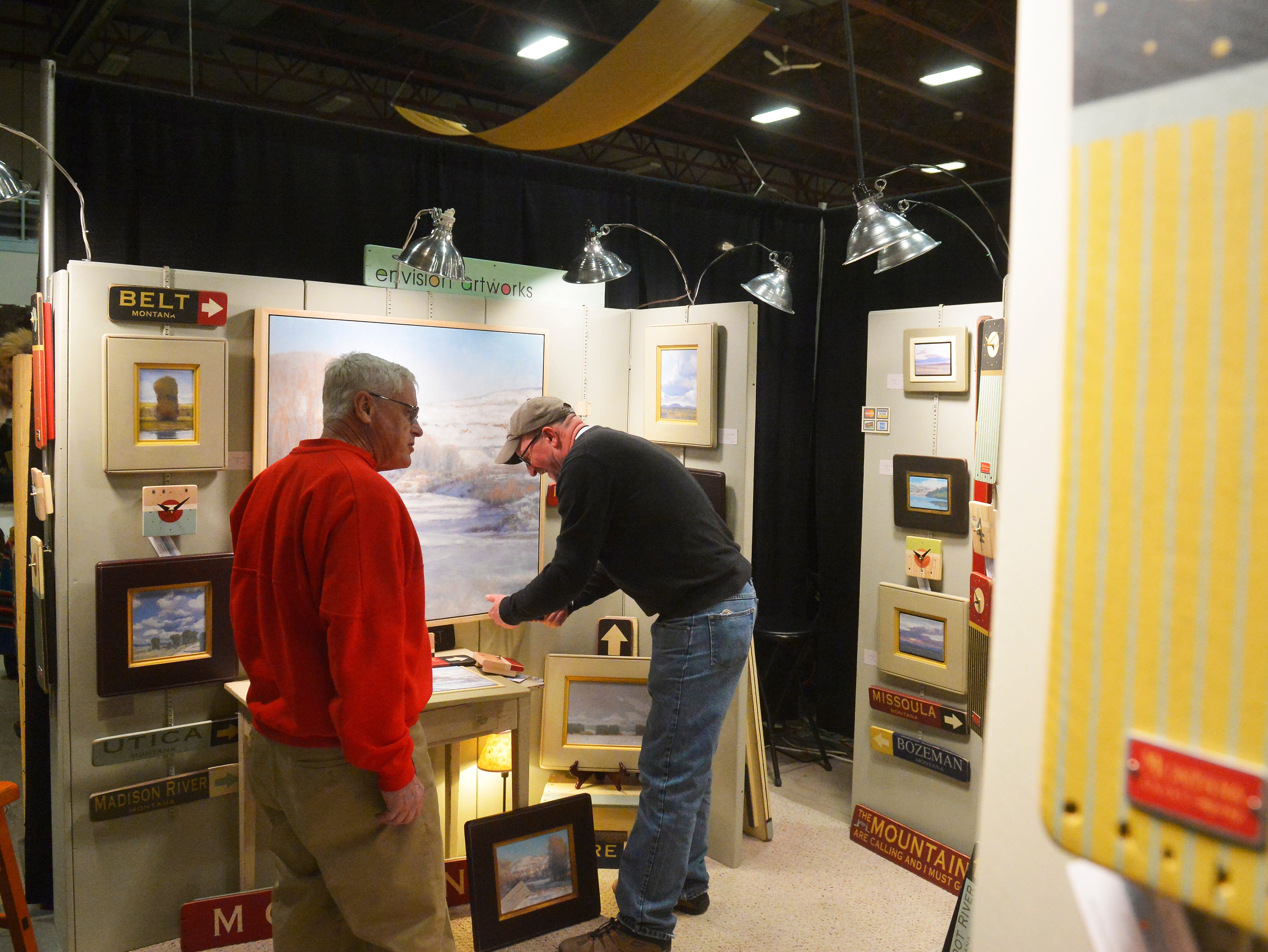 Envision artworks booth at the Great Western Living and Design Show in the Four Seasons Arena on Friday.