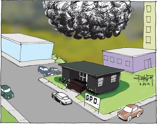 Sunday cartoon on GovGuam transparency.