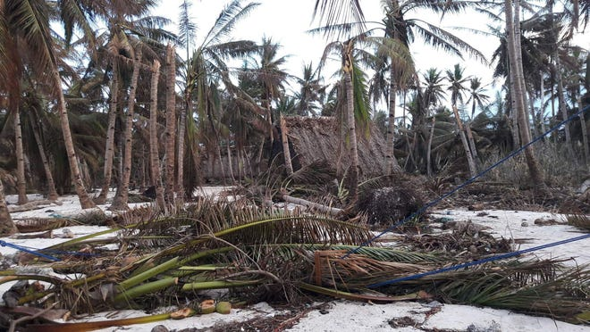 Typhoon Wutip hit hard on the island of Houk in Chuuk.