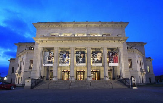 The Great American Songbook Exhibit Gallery is located inside the Palladium at the Center for the Performing Arts.