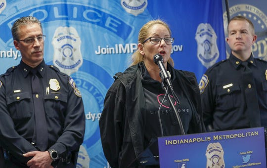 IMPD Det. Jeannie Burkert talks about the investigation of missing 8-month-old Amiah Robertson during a press conference on Saturday, Mar 23, 2019.