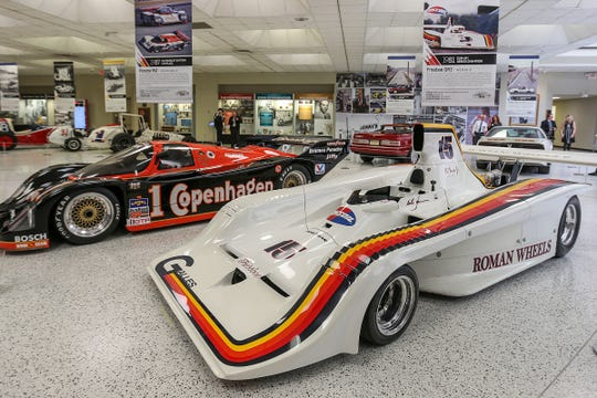 Race cars driven by the Unser family were part of a 2018 exhibit at the Indianapolis Motor Speedway Museum.