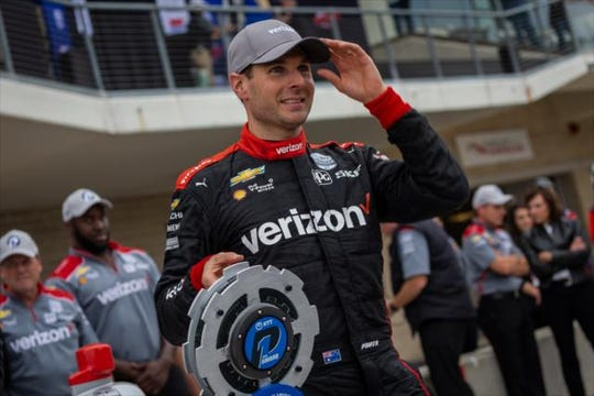 Team Penske driver Will Power took the pole Saturday for the IndyCar Classic at Circuit of the Americas.