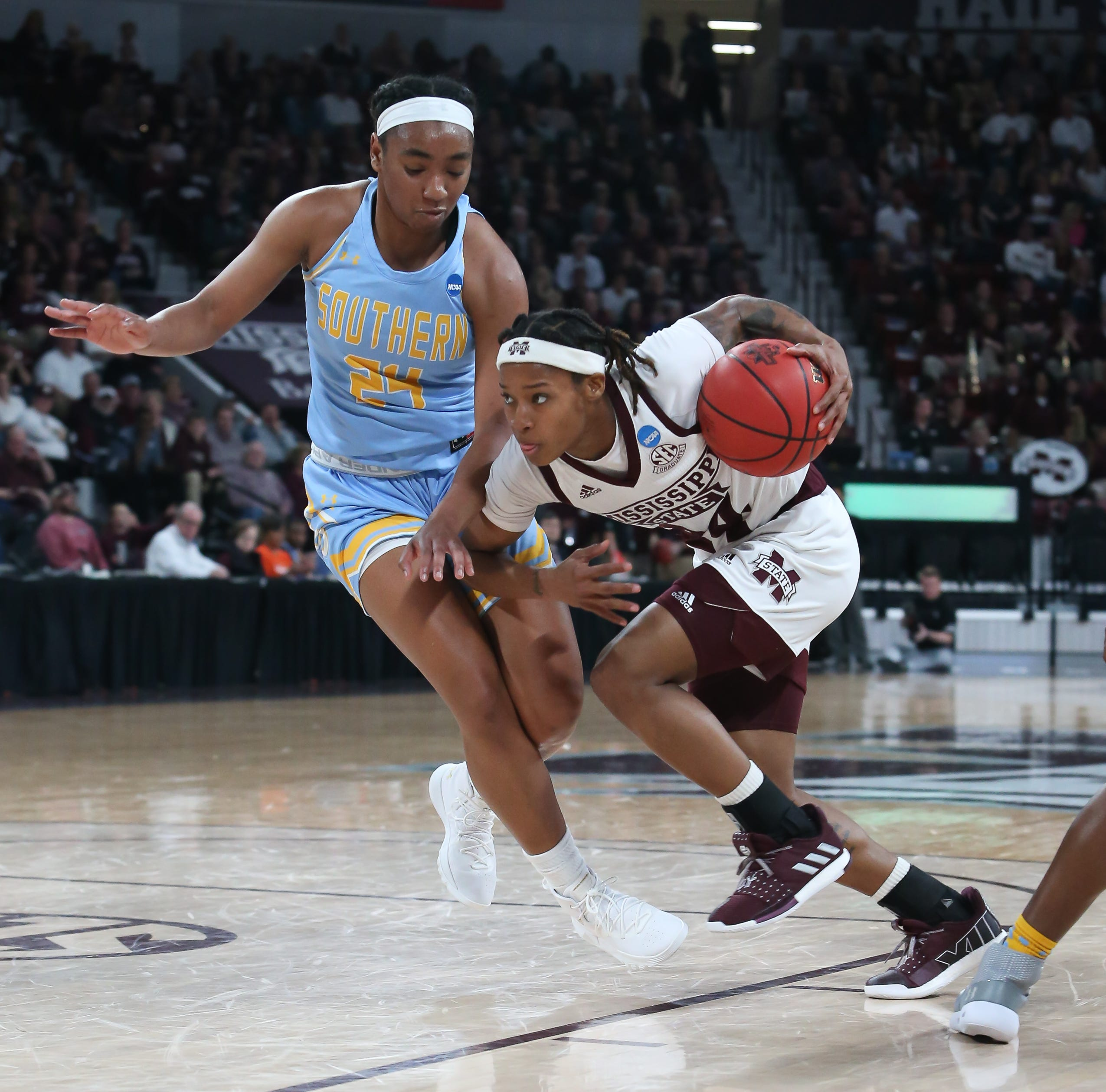 Mississippi State eclipses 100-point plateau in first-round blowout win over Southern