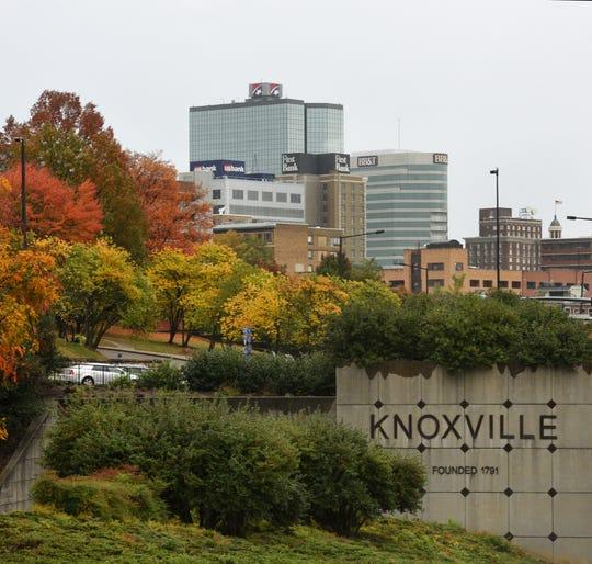 Knoxville skyline in November 2015