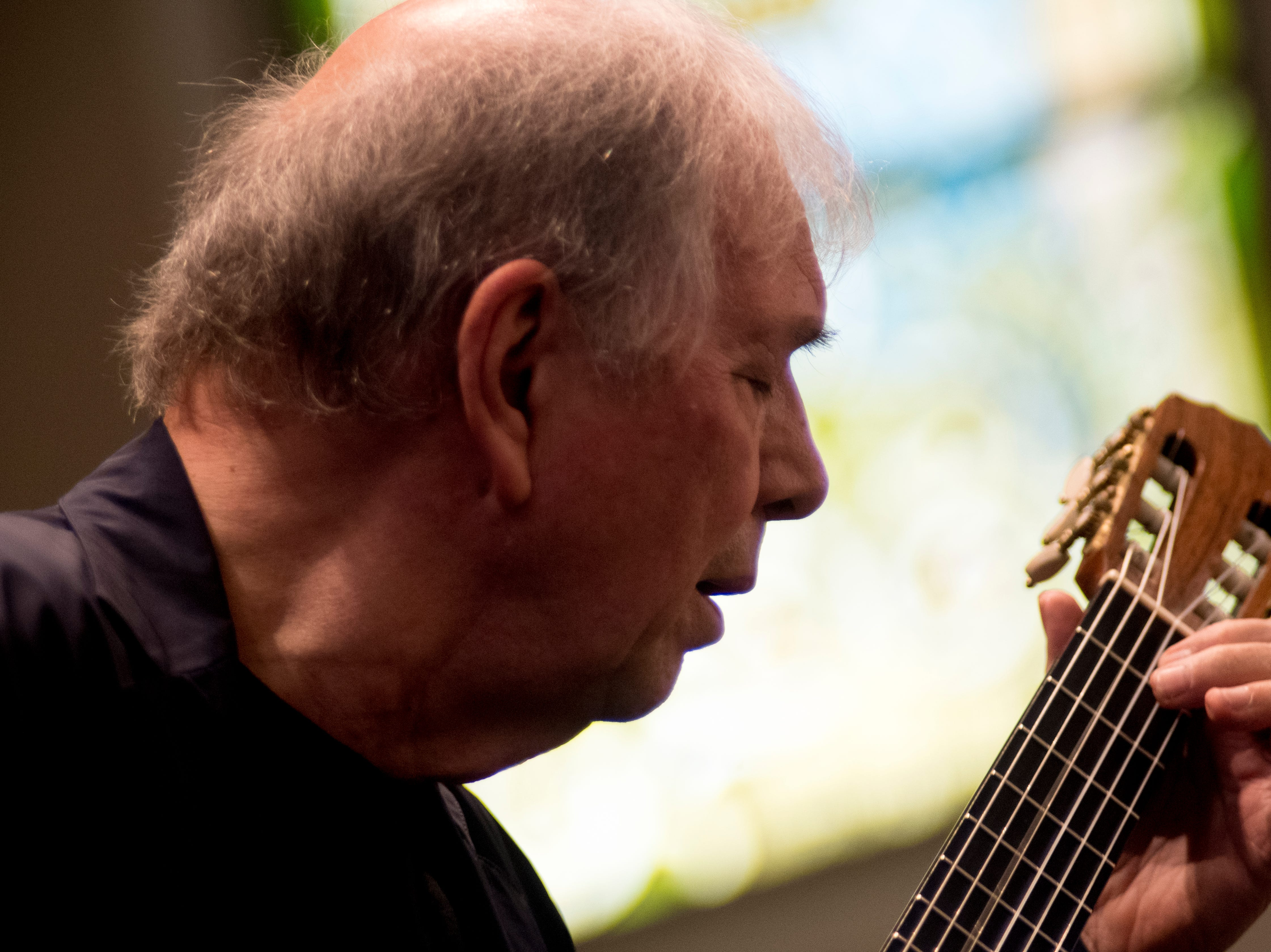 Ralph Towner performs at St. John's Episcopal Church during Big Ears Festival 2019 in Knoxville, Tennessee on Friday, March 22, 2019.
