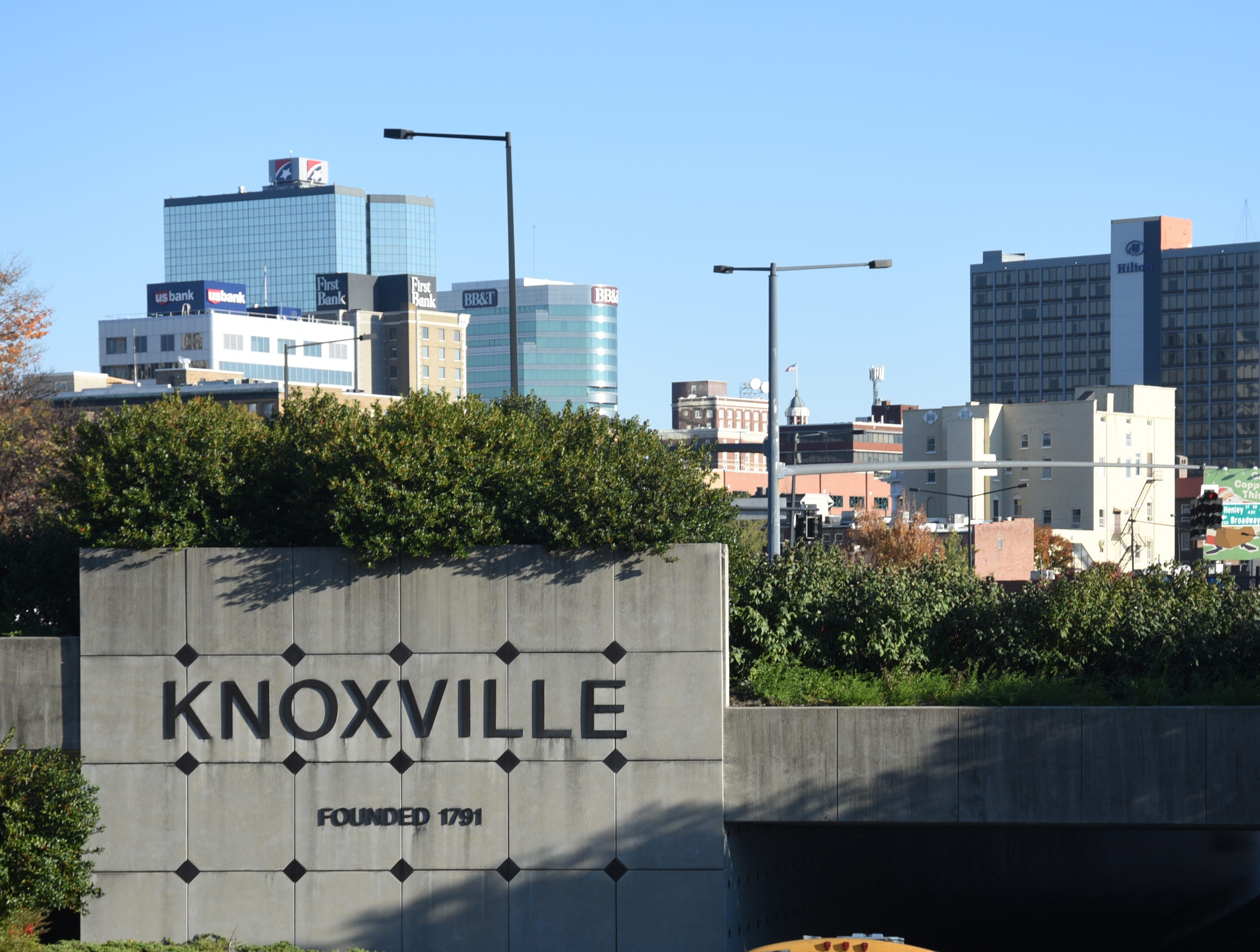Part of the Knoxville skyline in 2015.