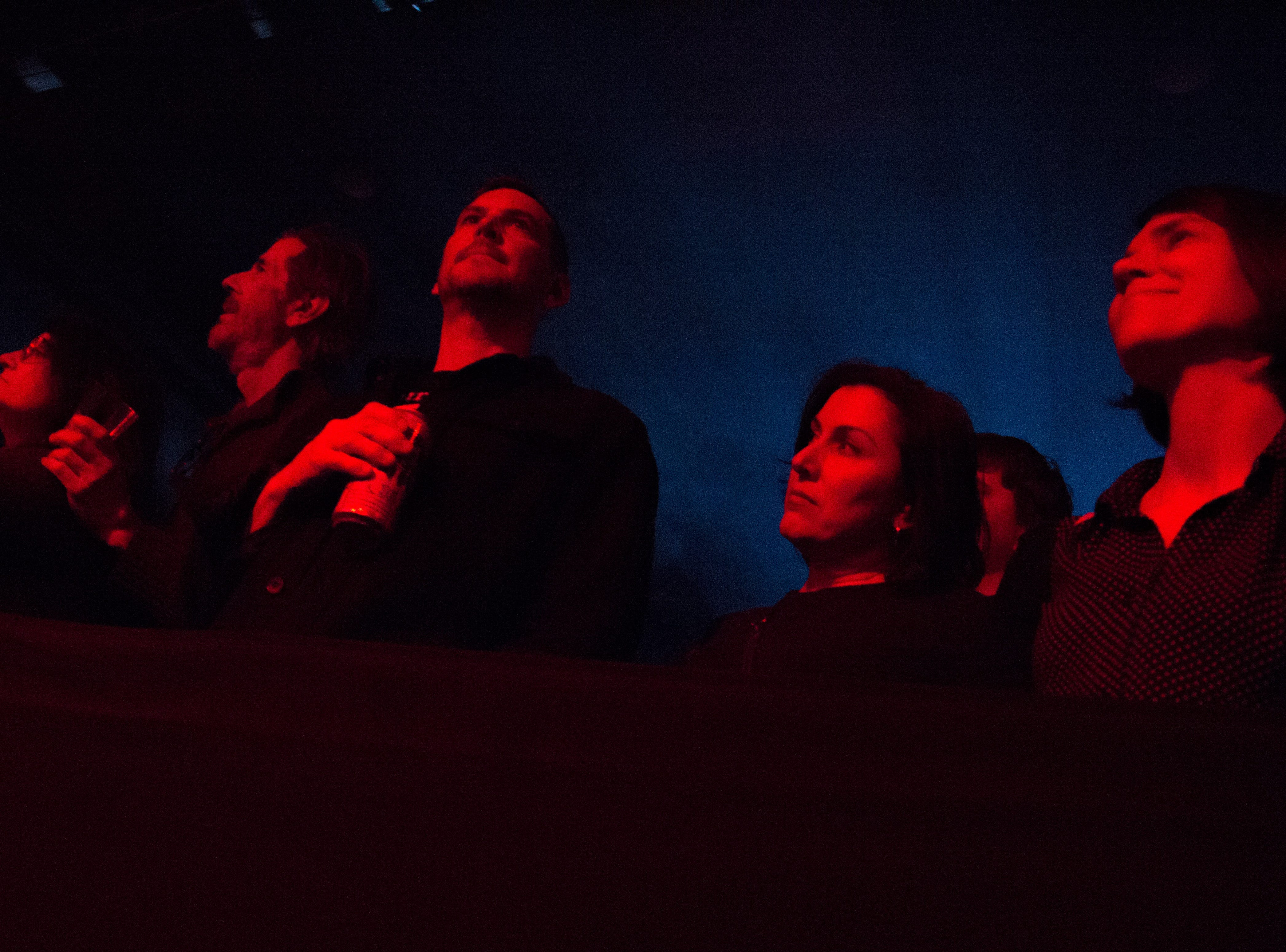 Fans watch Spiritualized performs at the Mill & Mine during Big Ears Festival 2019 in Knoxville, Tennessee on Friday, March 22, 2019.