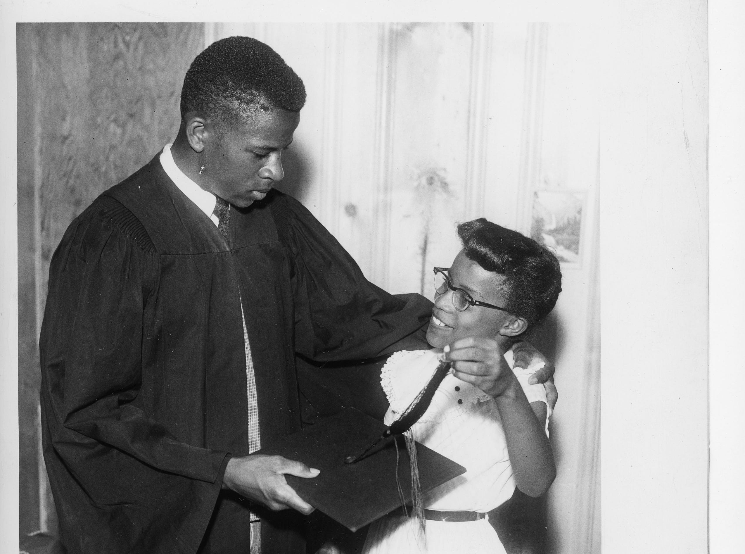 Bobby Cain, the first member of the Clinton 12 to graduate from Clinton  High School is shown following his graduation in  1957.