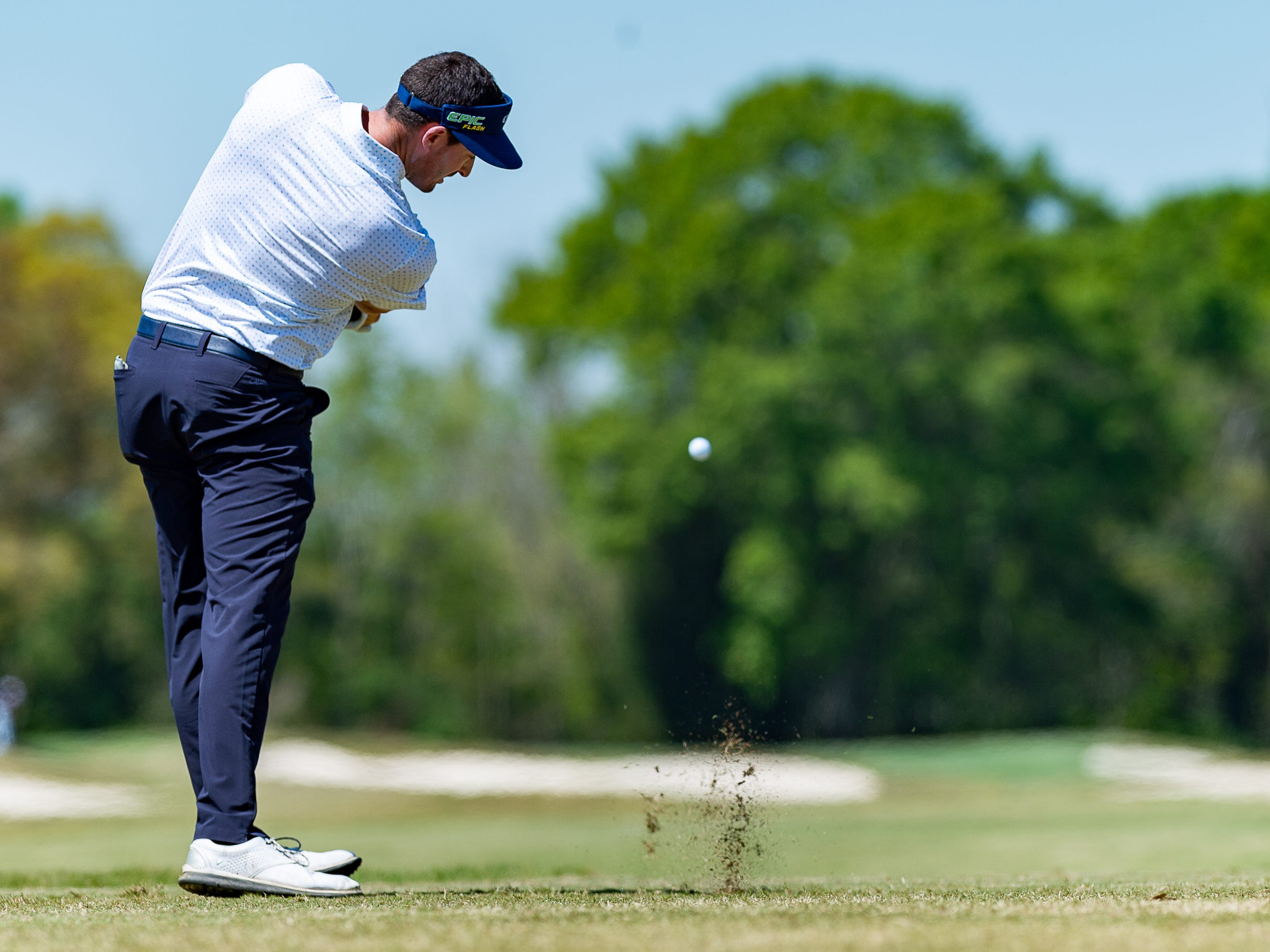Chase Seiffert on the tee as the The Web.com Tour is in Lafayette for the 2019 Chitimacha Louisiana Open at Le Triomphe. Friday, March 22, 2019.
