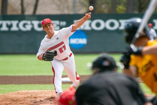 With the start of 2020 season coming Friday night, UL pitcher Austin Perrin still is a few weeks away from returning from a shoulder injury.