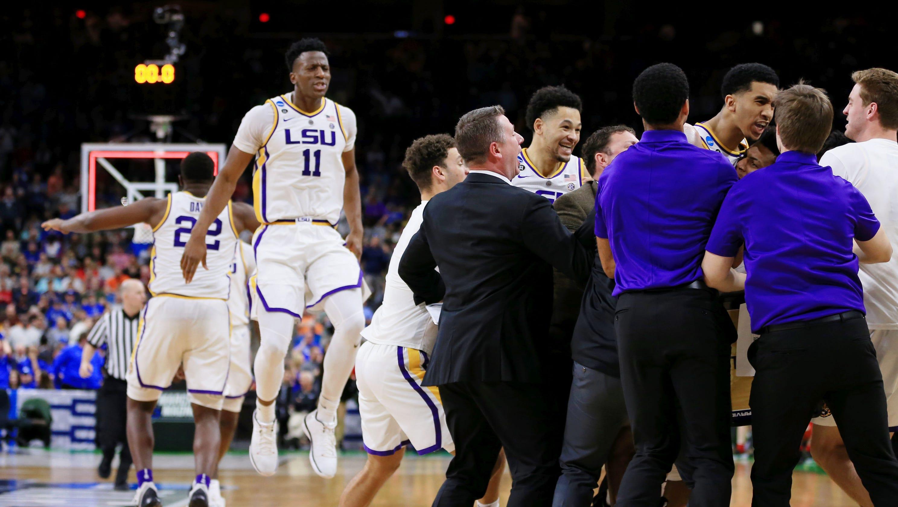 March Madness 2019: Watch LSU Basketball Celebrate Win