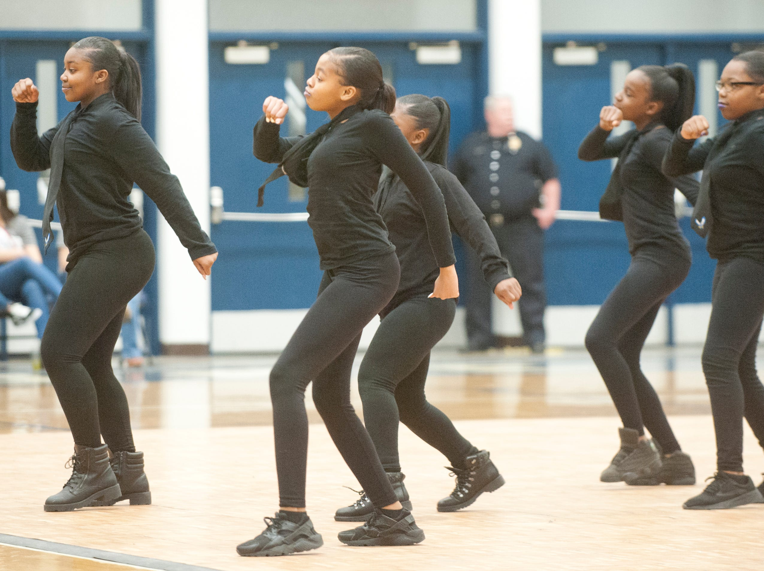 Westport Middle School's step team performs at StepFest, a Kentucky Derby Festival event sponsored by Louisville Parks and Recreation and held at Moore Traditional High School.