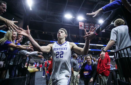 Reid Travis (22) and Kentucky have high hopes for the next round at the NCAA Tournament.