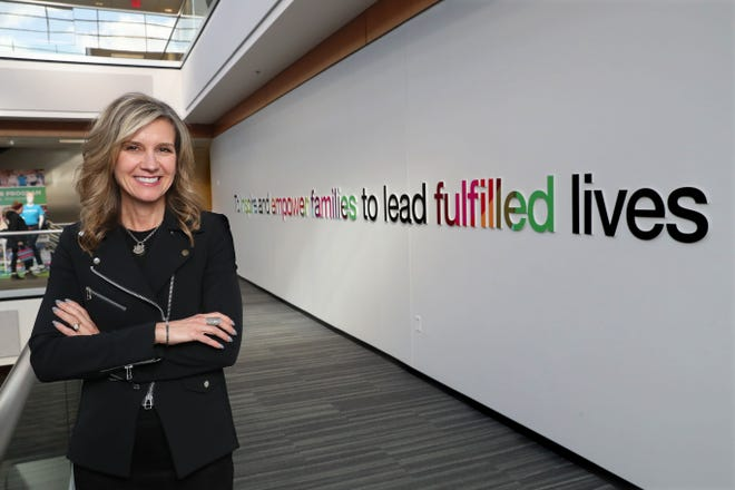 Kohl's Corp. CEO Michelle Gass, in the atrium outside her office at the company's headquarters in Menomonee Falls, recently sat down to talk about her leadership of the company so far.