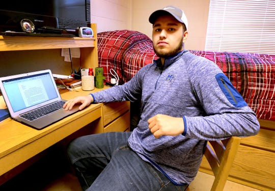 Isaac Plata was able to participate in a program at MTSU that makes it easier for students classified as homeless to have on-campus housing while in school.