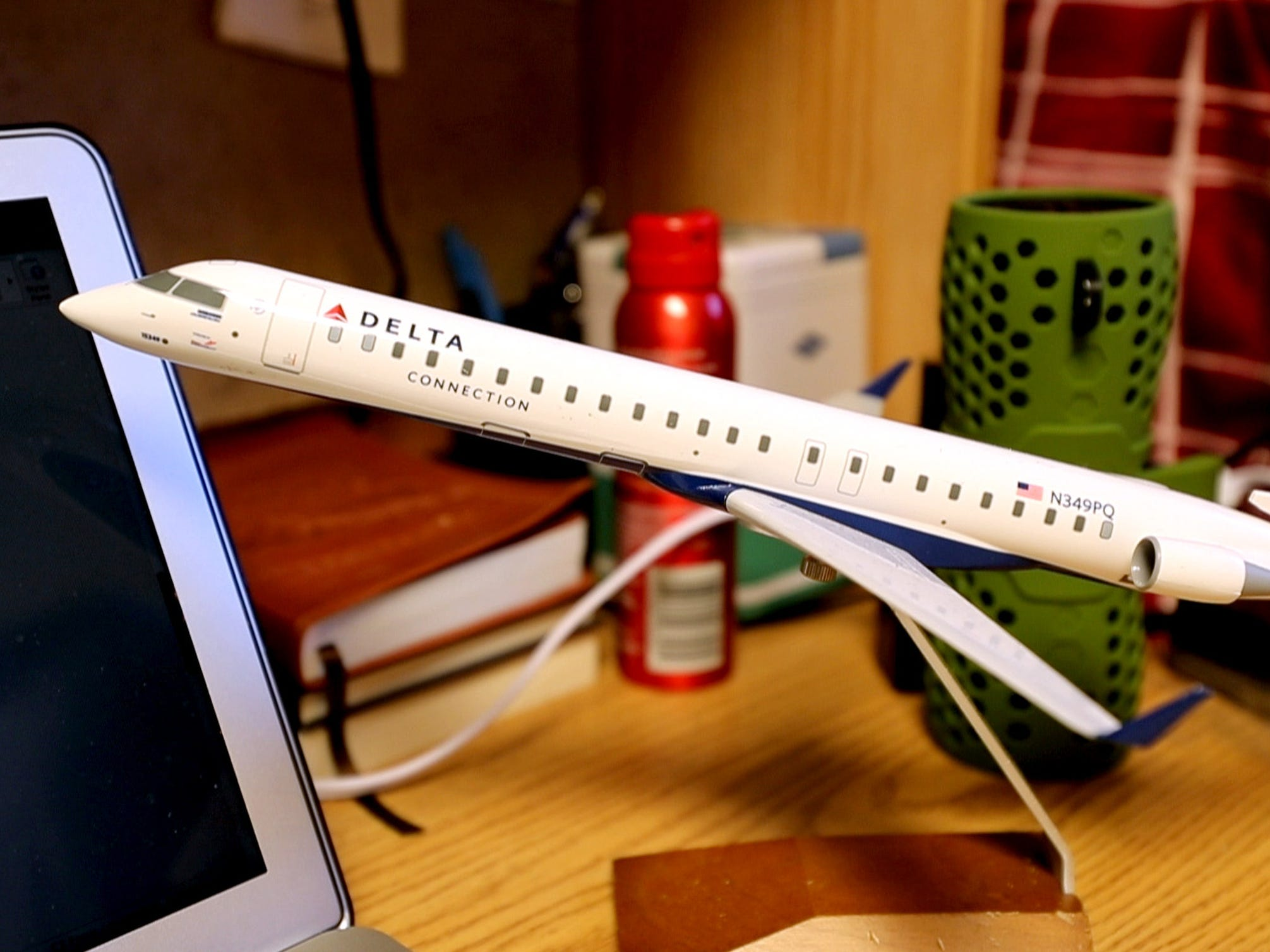 Despite changing his major from aviation Isaac Plata still has a plane replica in his dorm at MTSU.