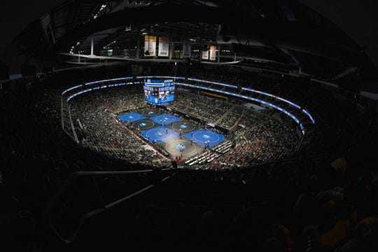 Mar 22, 2019; Pittsburgh, PA, USA; General view of the arena during the morning session of the NCAA Division 1 Wrestling Championships at PPG Paints Arena.