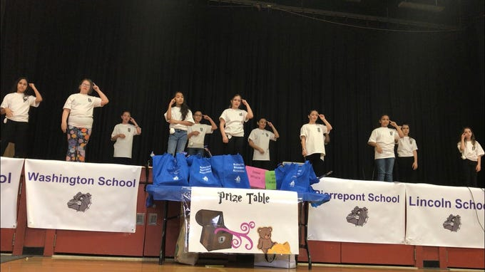 """Students from the Sign Language Club in Pierrepont School in Rutherford perform the song """"A Million Dreams"""" from the film """"The Greatest Showman."""""""