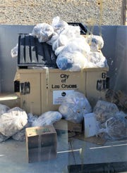 Las Cruces Utilities reminds businesses not to overfill dumpsters.