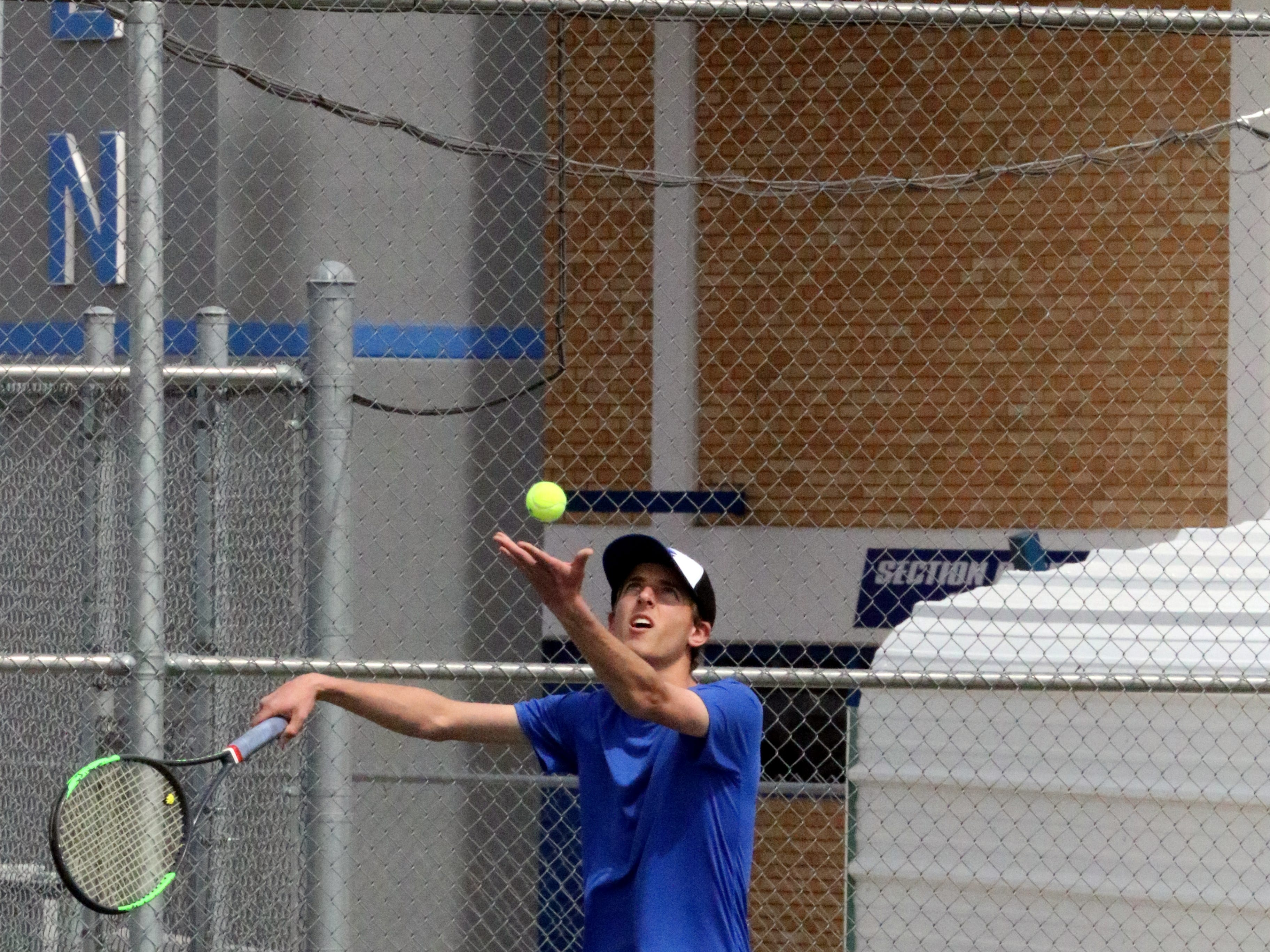 Photo highlights from Friday's portion of Carlsbad's tennis tournament. The Farmington girls took home first plce.