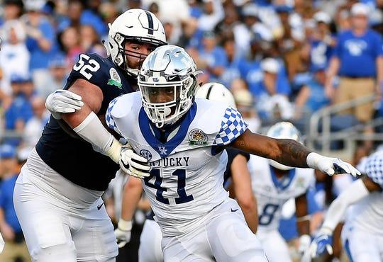 Kentucky pass rusher Josh Allen.