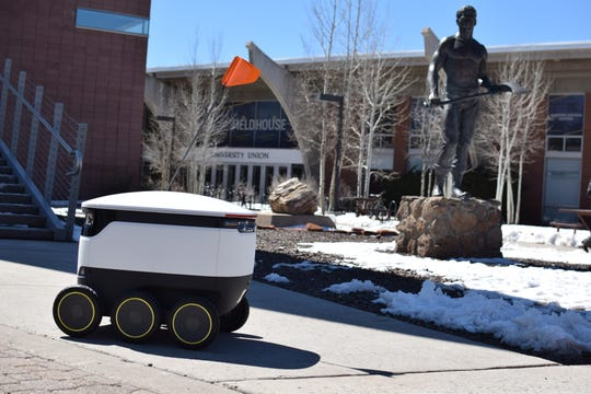 Robots in recent weeks have been running around mapping the Flagstaff campus of Northern Arizona University preparing to deliver food to students.